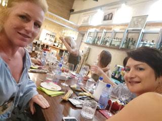 elena jnr andreou with Miranda Tringis