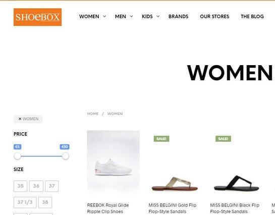 shoebox site search