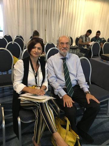 Elena Jnr. Andreou with Evangelos Gazis at CERN
