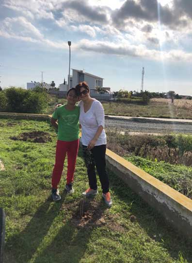 Planting trees for Cyprus a greener place