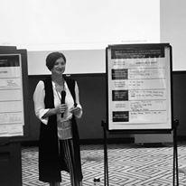 Elena Jnr Andreou CEO of Go Digital Globally presenting
