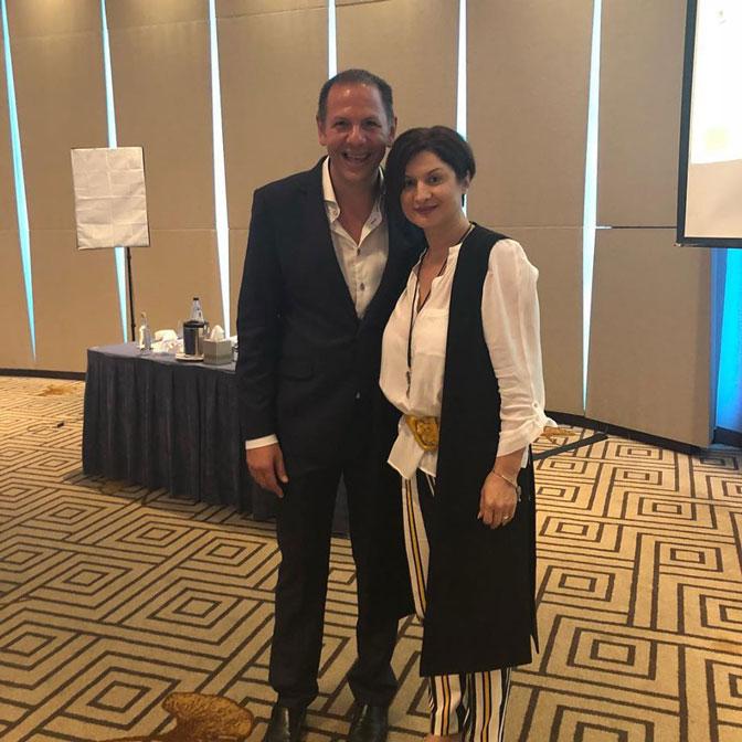 Elena Jnr Andreou with Michael Virardi