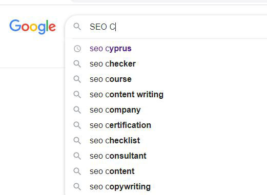 google suggestions for keywords strategy